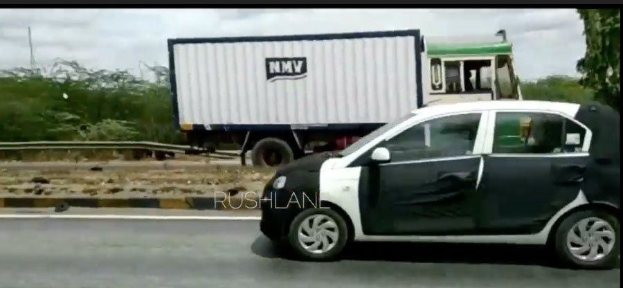 New Hyundai Santro test mules spotted testing on a highway – VIDEO
