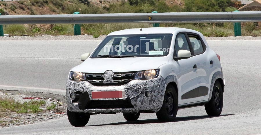 Renault Kwid Facelift hatchback SPIED testing ahead of launch