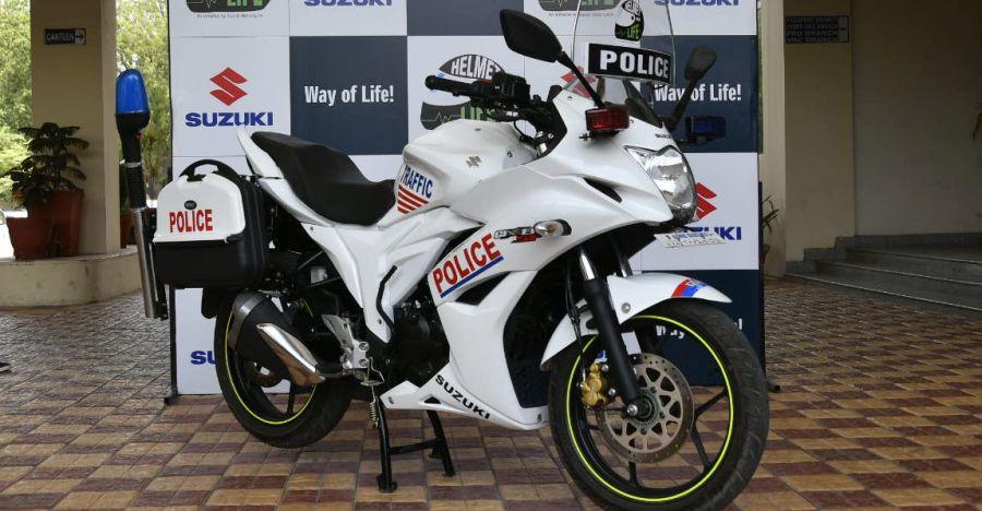 Suzuki Gixxer SF is Gurugram police force's new patrol bike