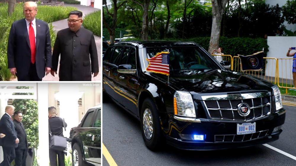 "Donald Trump shows his Cadillac One ""Beast"" to Kim Jong-Un [Video]"