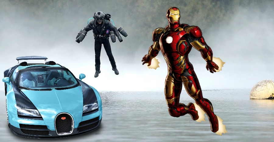 This Iron Man-like flying suit has as much power as a Bugatti Veyron!