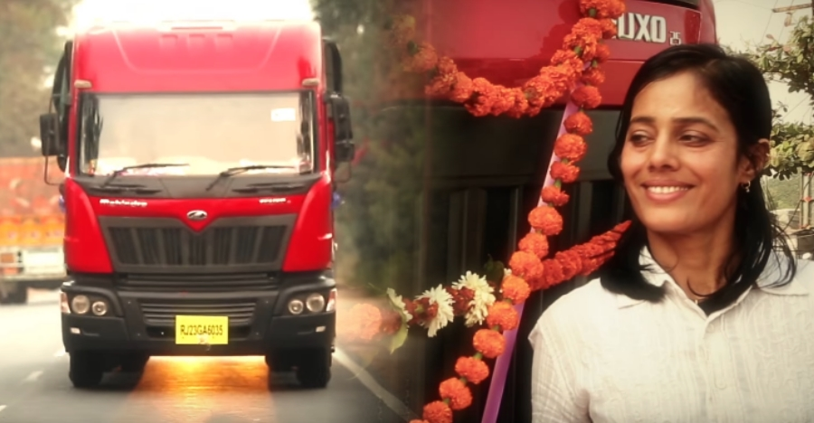 This woman truck driver is breaking the norm on Indian roads