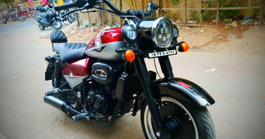 A Harley Davidson Fat Boy that's actually a Royal Enfield Classic 350!