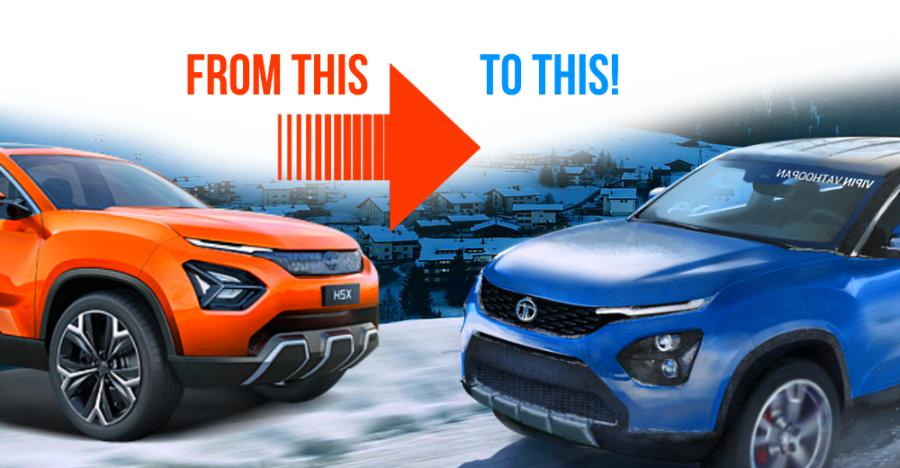 Tata Harrier SUV concept vs production version: What will change?