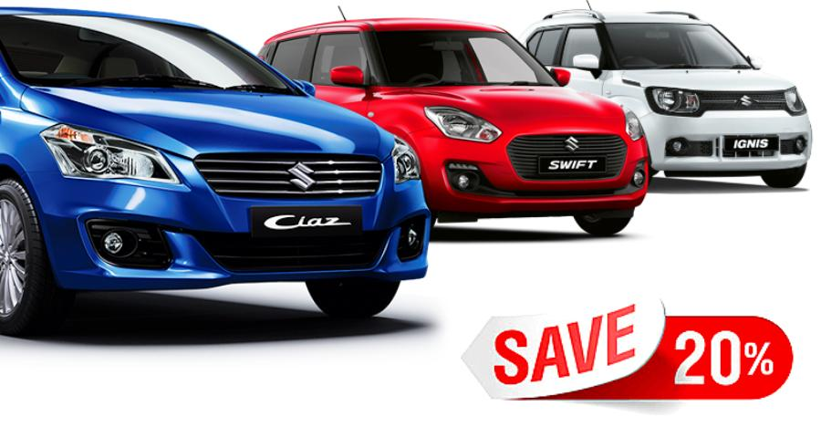 MEGA discounts of up to Rs. 1.2 lakh on Maruti cars: Ciaz to new Swift