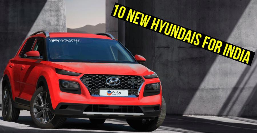 10 New Hyundai Cars Suvs Coming To India Santro To Brezza