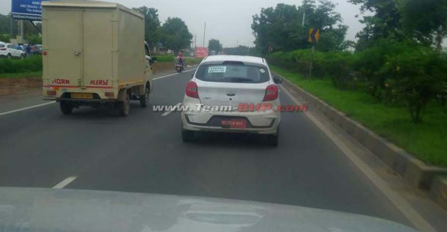 Upcoming Ford Figo Facelift CNG SPIED