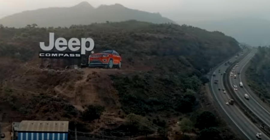 Jeep Compass in India's largest hoarding: How it was put together on the Mumbai-Pune Expressway [Video]