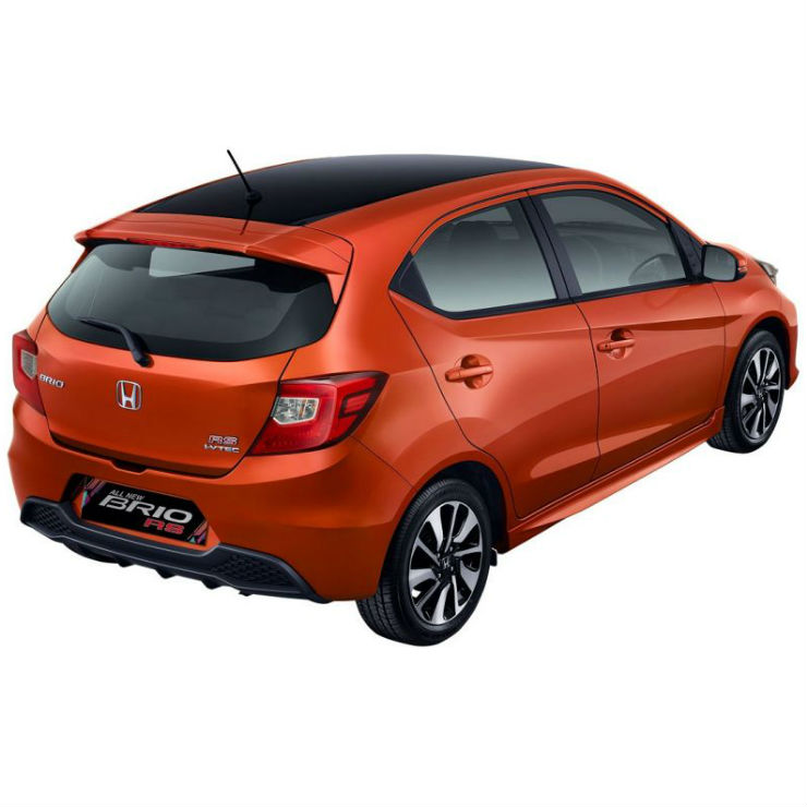 2018 honda brio rs rear three quarter profile