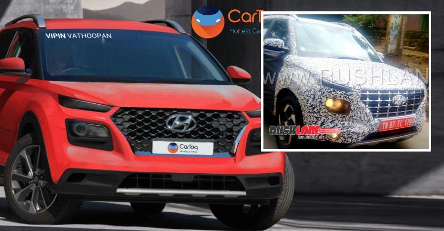 Hyundai Carlino Compact Suv Spied Testing Looks Like A Baby Creta