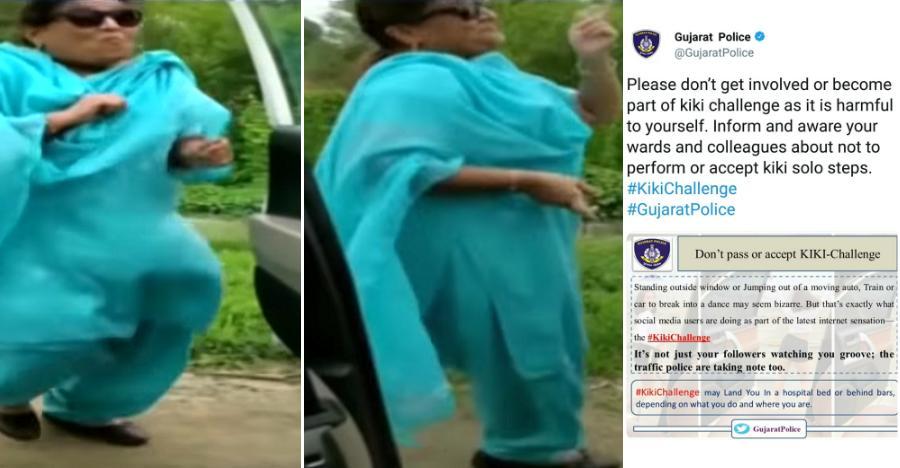 Gujarati aunty's Kiki challenge outside moving car goes viral: Cops