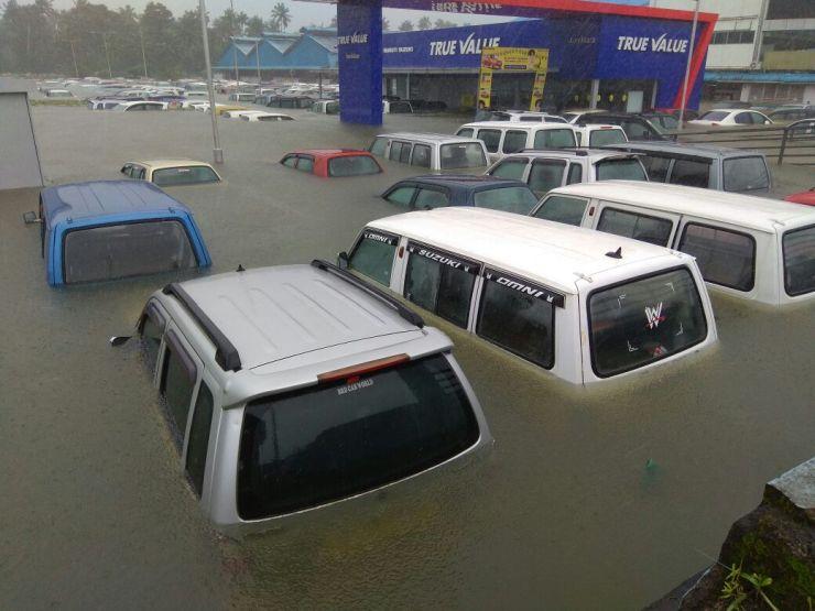 Kerala Floods Car Dealership