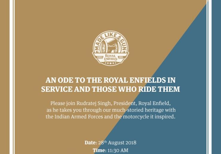 Royal Enfield 28th Invite