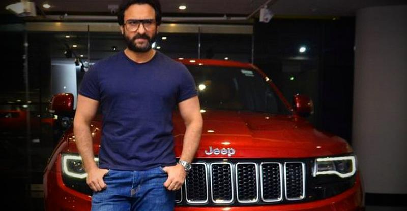 Saif Ali Khan With His Jeep Grand Cherokee Srt Featured