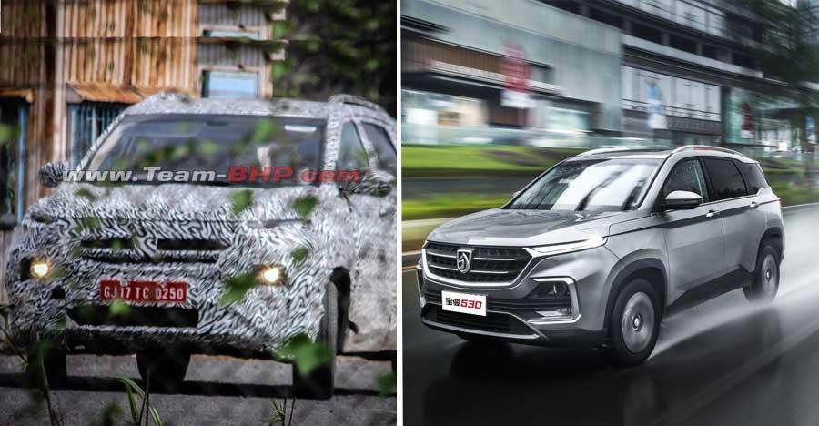 Baojun 530-based upcoming MG SUV for India SPIED testing