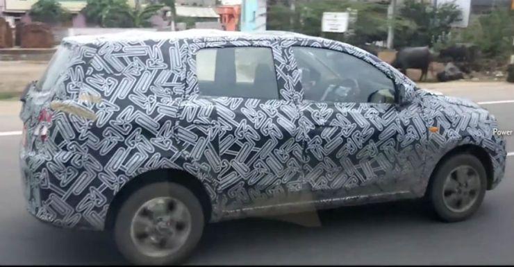 Datsun Go Plus Spy Pic 1