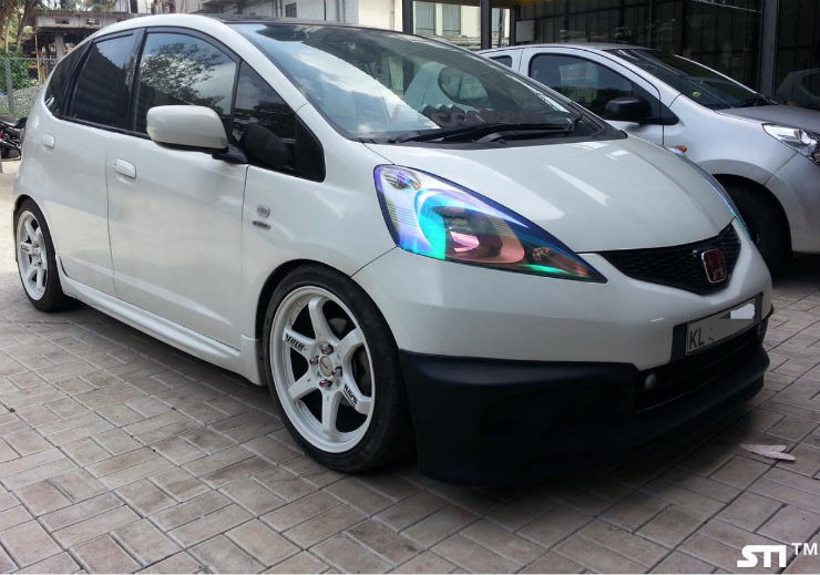 Lowered Honda Jazz