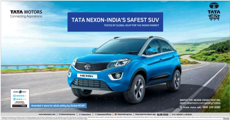 Nexon Tata Crash Test Ad Featured