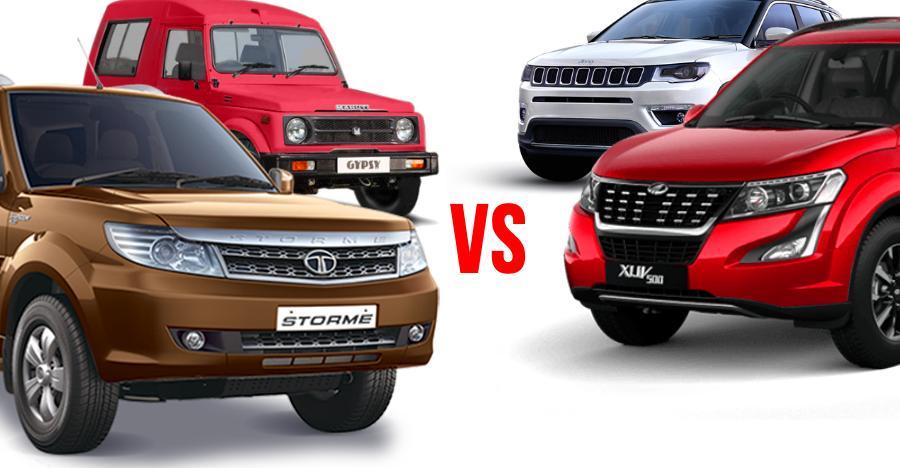 4X4 (Maruti Gypsy, Tata Safari Storme) vs AWD (Mahindra XUV500, Jeep Compass) SUVs: Who should buy what!