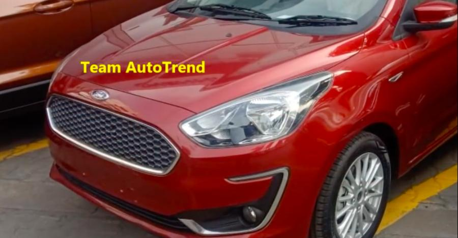 Ford Figo Aspire Facelift In Red Featured