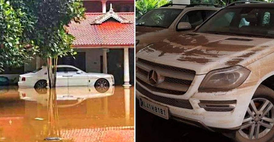 Expensive Cars Destroyed In Kerala Floods Rolls Royce Ghost To Jeep
