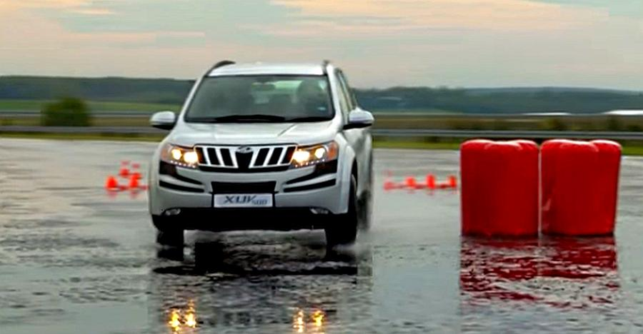 This Mahindra XUV500 braking real HARD shows why ABS matters even on cars! [Video]
