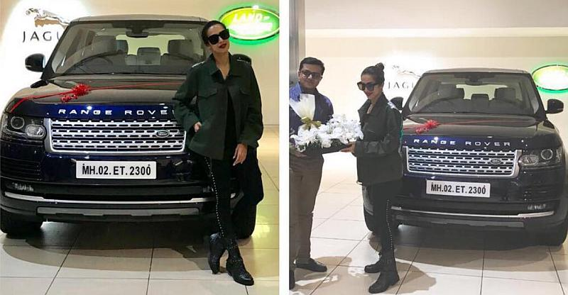 Malaika Arora With Her Range Rover Vogue Suv