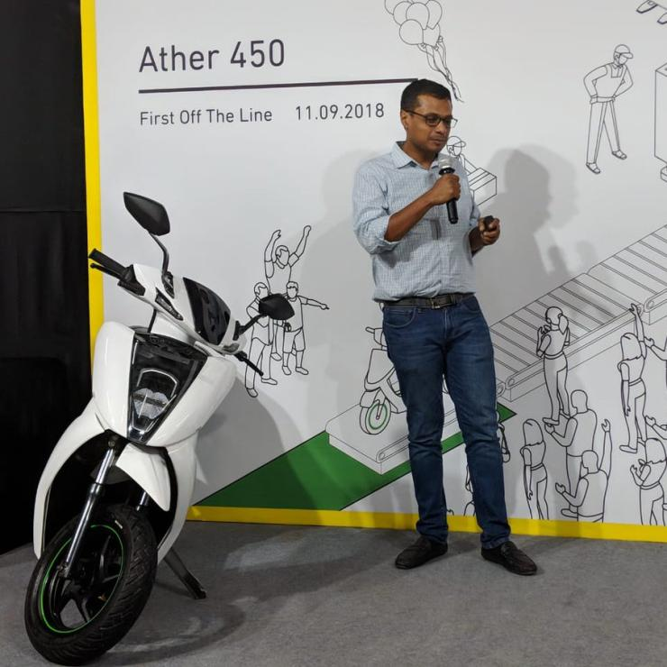 Sachin Bansal With The Ather 450