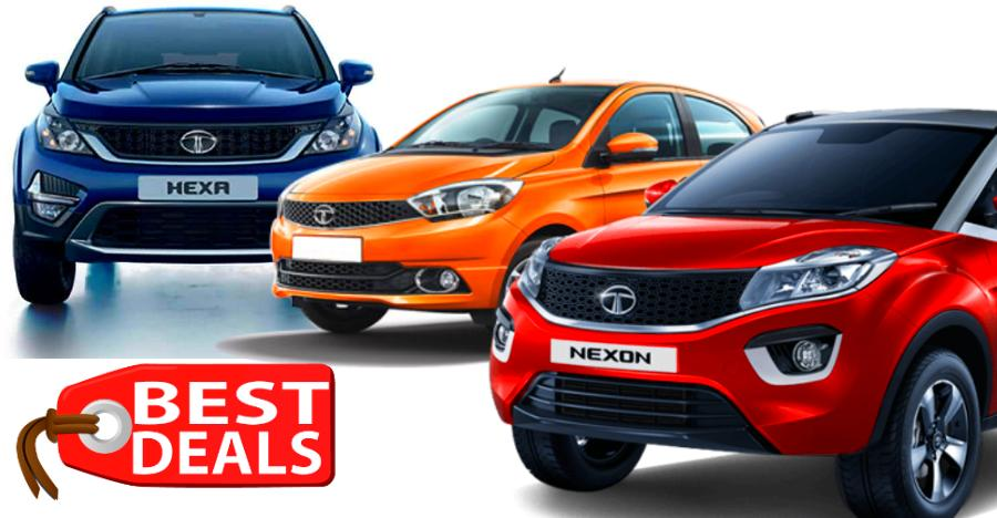 BIG discounts of up to Rs. 80,000 on Tata Tiago, Tigor, Zest, Nexon & HEXA