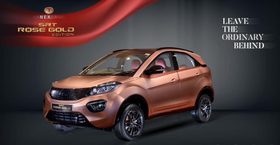 Tata Nexon Srt Rose Gold Edition Featured