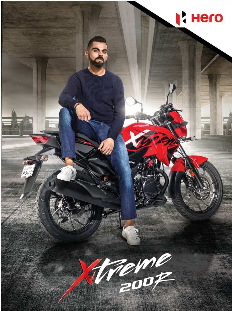 Virat Kohli, Brand Ambassador Of Hero Motocorp Ltd. With The Xtreme 200r