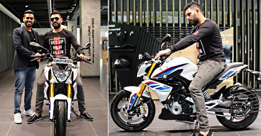Yuvraj Singh On His Bmw G 310r Featured