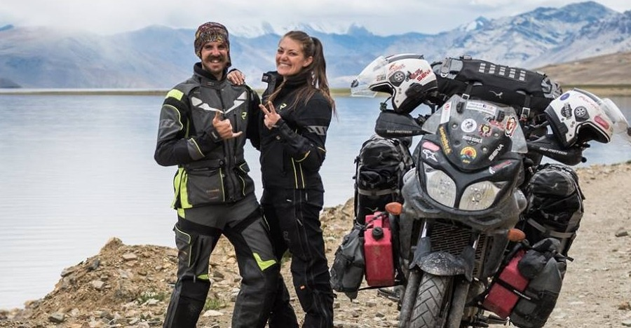 Foreign biker couple driven away by angry Indian villagers