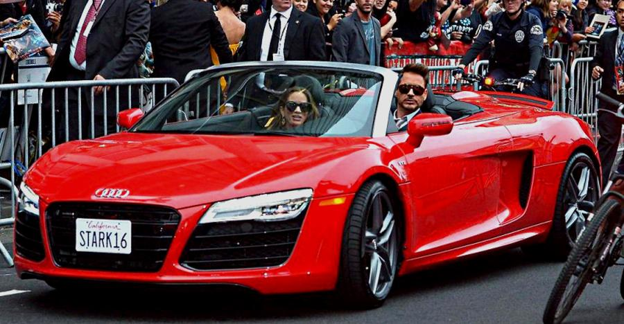 Robert Downey In An Audi R8