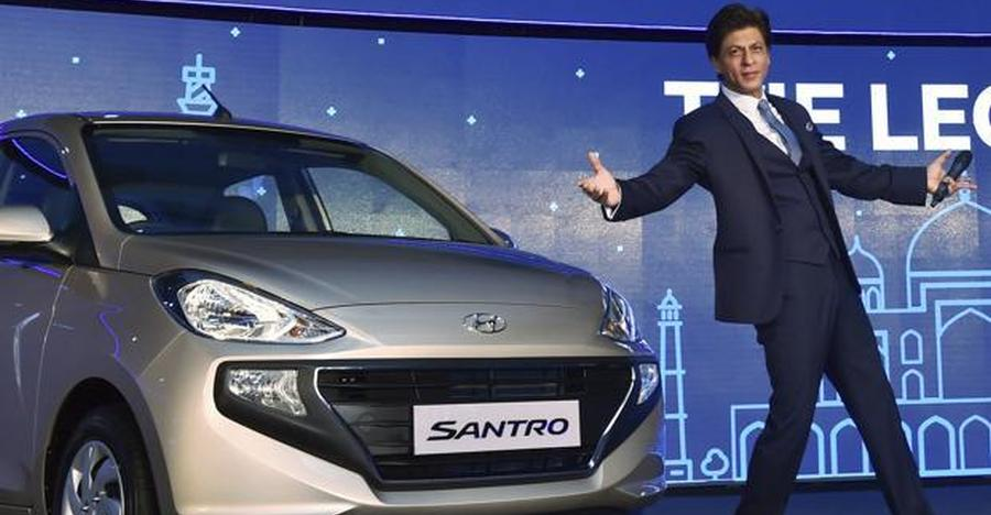Hyundai Santro Shahrukh Khan Featured