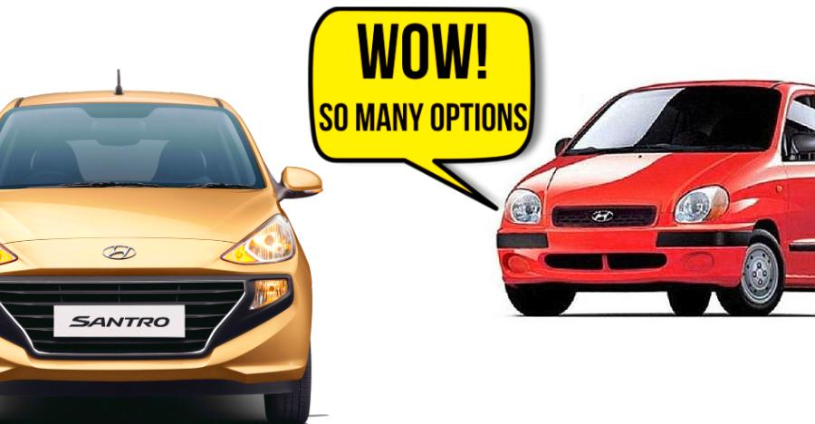 Hyundai Santro Variants Featured