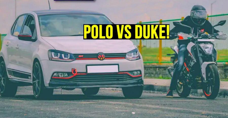 Ktm Duke 250 Vs Volkswagen Polo Gt Tsi Drag Race Featured
