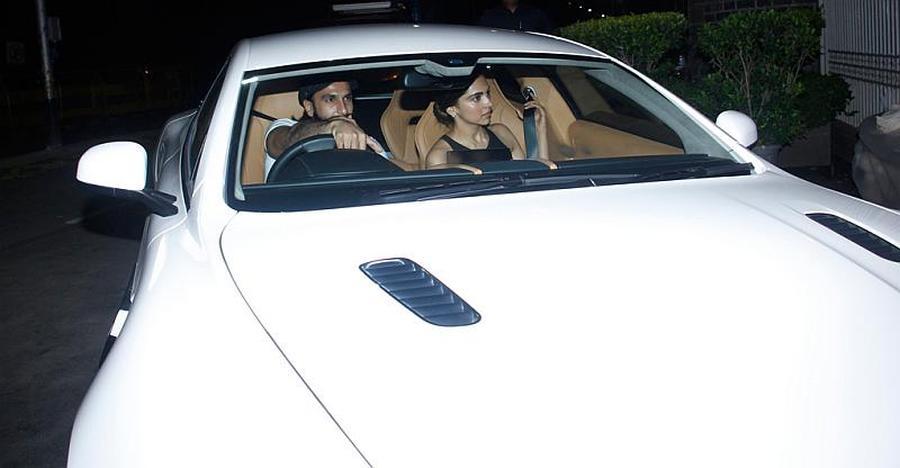 Ranveer Singh And Deepika Padukone In An Aston Martin Rapide S