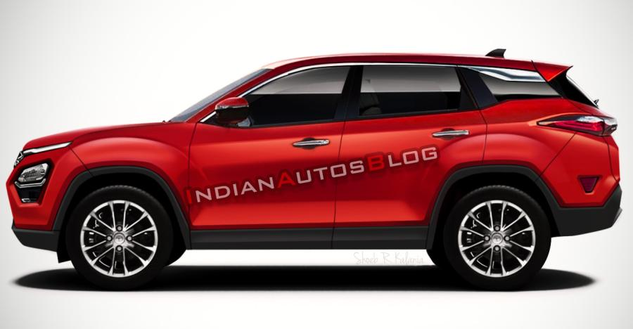 Tata Harrier Render In Red Featured