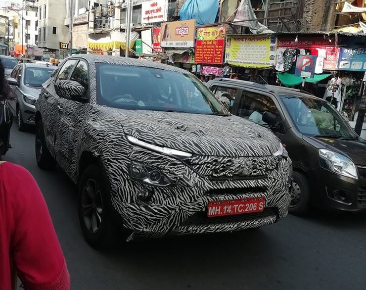 Tata Harrier Production Version Spied Testing At Pune