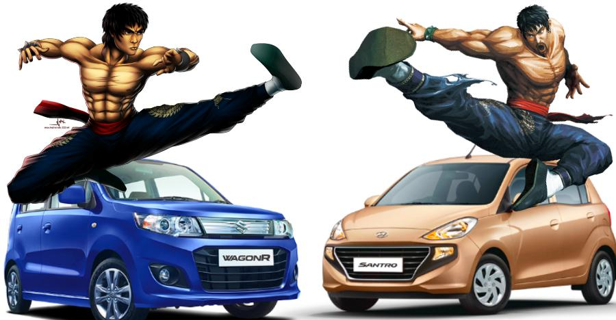 Wagonr Vs Santro Featured
