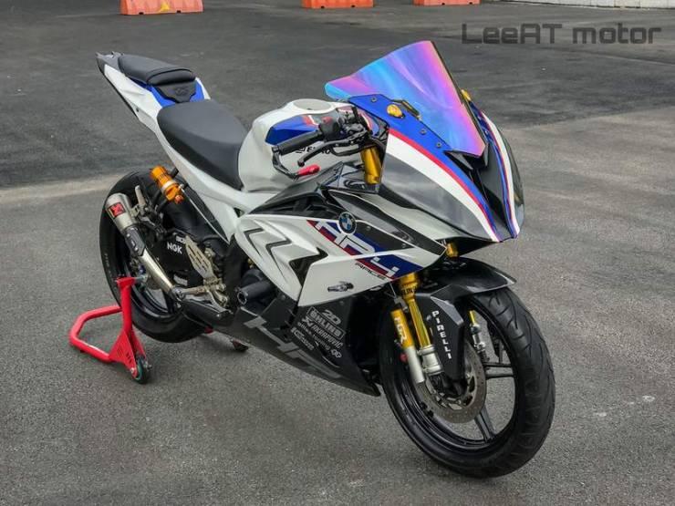 Yamaha R15 Transformed Into A Street Legal Bmw Hp4 Race Replica