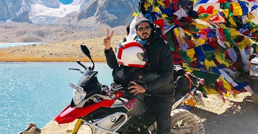 This is India's first BMW G 310 GS to reach the 17,800 ft high Gurudongmar lake