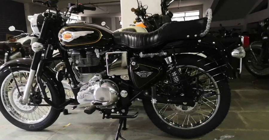 Royal Enfield Bullet 350 with rear disc brake launched in India