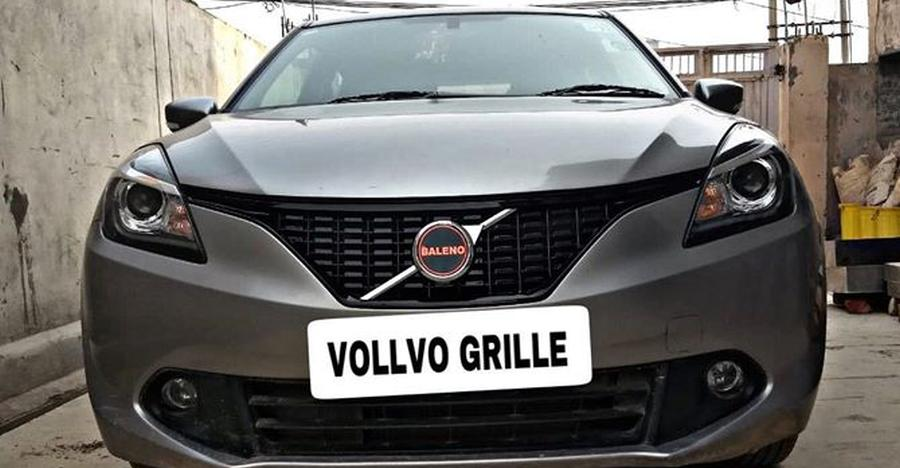 Maruti Baleno With Volvo Grille Featured