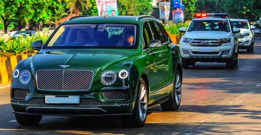 Mukesh Ambani's multi-crore car convoy on VIDEO – Bentley Bentayga, Mercedes S-Class & police escort BMW X5s