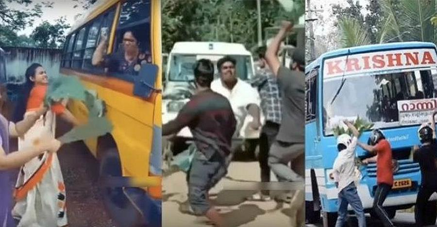 Kerala police warns people jumping in front of vehicles for Tik Tok viral videos