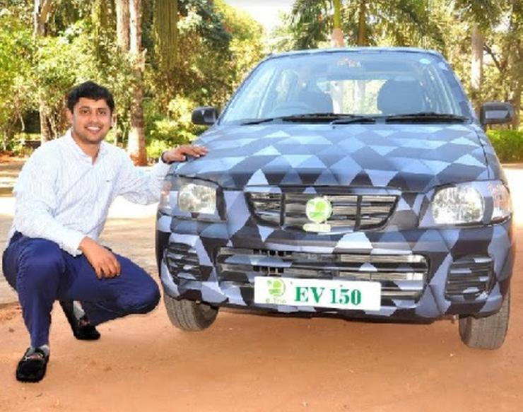 Retro Fitted Maruti Alto Electric Car From E Trio
