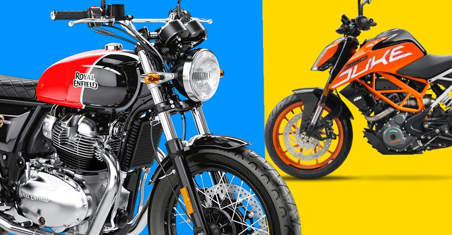 Royal Enfield Interceptor Ktm Duke Pricing Featured