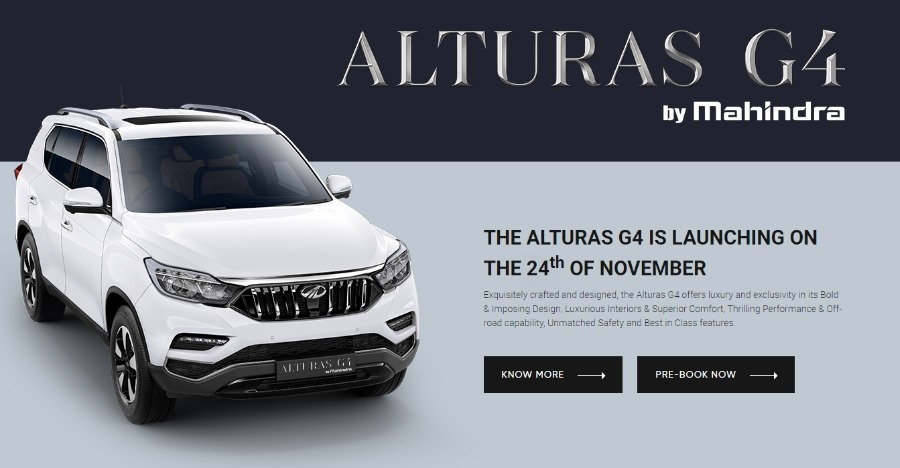 Mahindra Alturas G4 Officially Revealed Toyota Fortuner Challenger